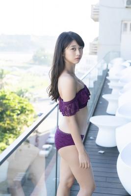 Marika Makino Purple Lace Bikini Swimsuit Morning Musume012