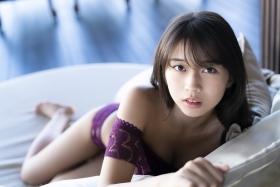 Marika Makino Purple Lace Bikini Swimsuit Morning Musume020