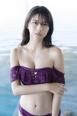 Marika Makino Purple Lace Bikini Swimsuit Morning Musume024