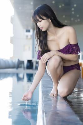 Marika Makino Purple Lace Bikini Swimsuit Morning Musume017