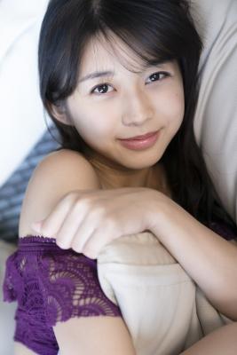 Marika Makino Purple Lace Bikini Swimsuit Morning Musume022