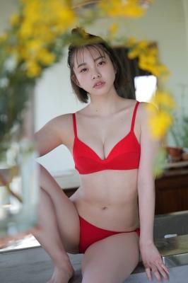 Ayuna Nitta White lace bikini Red bikini 4008