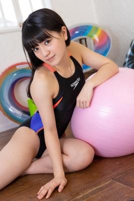 Hinako Tamaki Swimming Race Swimsuit Images Black speedo speedo balance ball floaties020
