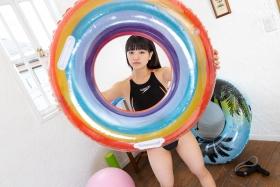 Hinako Tamaki Swimming Race Swimsuit Images Black speedo speedo balance ball floaties028