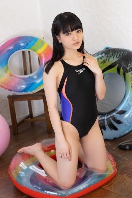 Hinako Tamaki Swimming Race Swimsuit Images Black speedo speedo balance ball floaties037