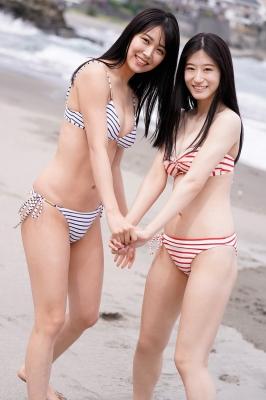 Miru Shirama Rei Uenishi NMB48 two perfect bodies001