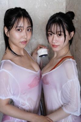 Miru Shirama Rei Uenishi NMB48 two perfect bodies008