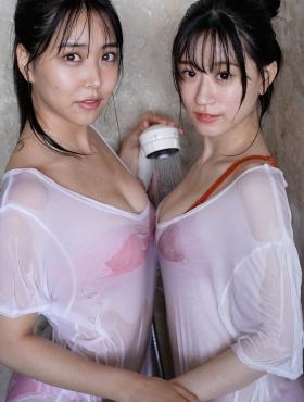Miru Shirama Rei Uenishi NMB48 two perfect bodies010