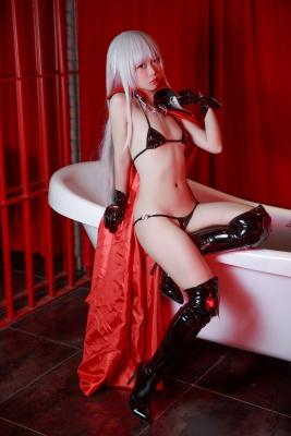 Black Bikini Busty Bishojo Kaleidoscope Firefly Costume Play008