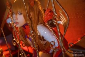Evangelion Pilot Suit Shikinami Asuka Langley Costume Play008