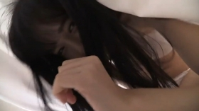 Sakizakura Ando white bathing suit making out on the bed010