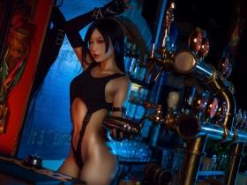 Tifa Lockhart Transformation Swimsuit Exposed Cosplay Final Fantasy VII005