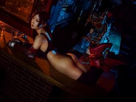 Tifa Lockhart Transformation Swimsuit Exposed Cosplay Final Fantasy VII007