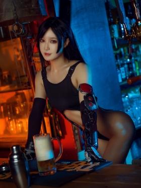 Tifa Lockhart Transformation Swimsuit Exposed Cosplay Final Fantasy VII013