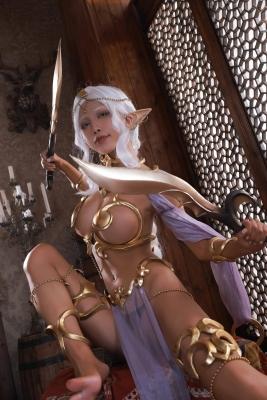 Elf Village Cosplay Swimsuit Gravure003