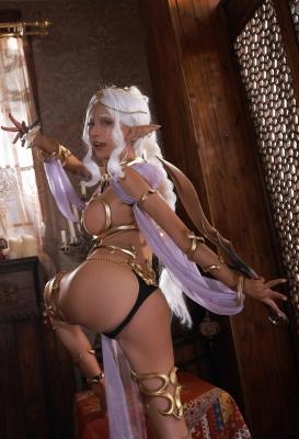 Elf Village Cosplay Swimsuit Gravure015