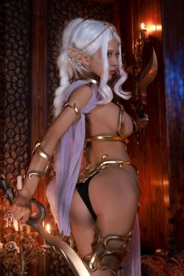 Elf Village Cosplay Swimsuit Gravure064