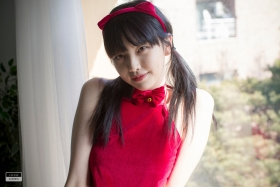 Red string bikini Korean girl034