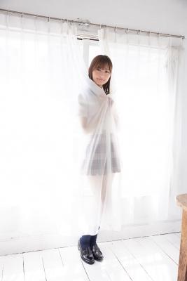 Asami Kondo School Uniform Orange Pink Bikini001
