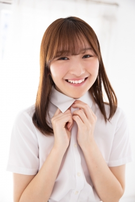Asami Kondo School Uniform Orange Pink Bikini005