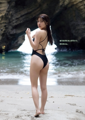 Yuri Someno shows off her refreshing swimsuit in the early summer sea006