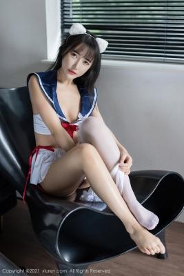Sailor Suit Bikini High School Girl with Cat Ears003