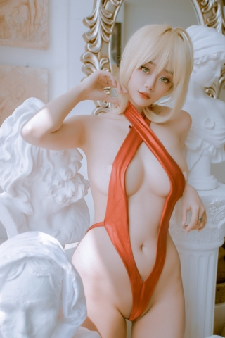 Swimsuit Vr Transformation Swimsuit Nero Claudius Red Saber Absolute Monster Battlefield Babylonian004