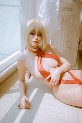 Swimsuit Vr Transformation Swimsuit Nero Claudius Red Saber Absolute Monster Battlefield Babylonian025