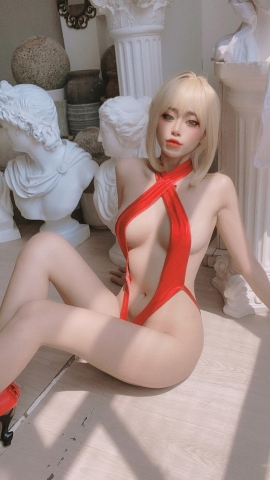 Swimsuit Vr Transformation Swimsuit Nero Claudius Red Saber Absolute Monster Battlefield Babylonian033