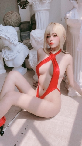 Swimsuit Vr Transformation Swimsuit Nero Claudius Red Saber Absolute Monster Battlefield Babylonian052