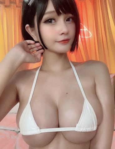 White Swimsuit Super Small White Bikini Micro Bikini White Harness Nurse003