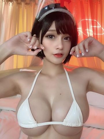 White Swimsuit Super Small White Bikini Micro Bikini White Harness Nurse005
