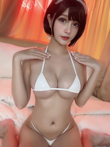 White Swimsuit Super Small White Bikini Micro Bikini White Harness Nurse013