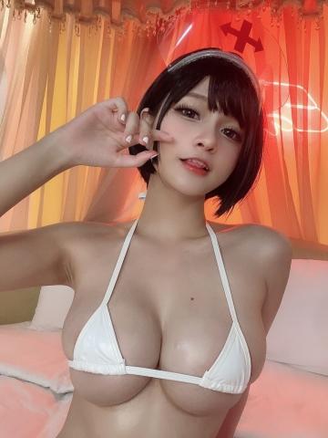 White Swimsuit Super Small White Bikini Micro Bikini White Harness Nurse017