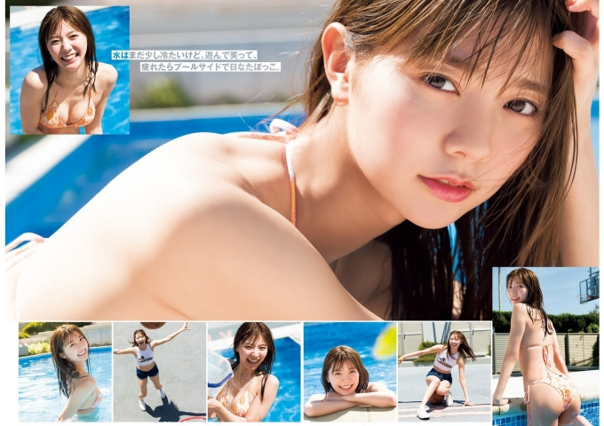 Asuka Kawazu The morning sunlight has completely turned to summer On days like this I change into my swimsuit and go straight to the pool006