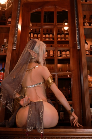 Black Beast The noble saint is dyed white Cosplay Swimsuit Gravure039