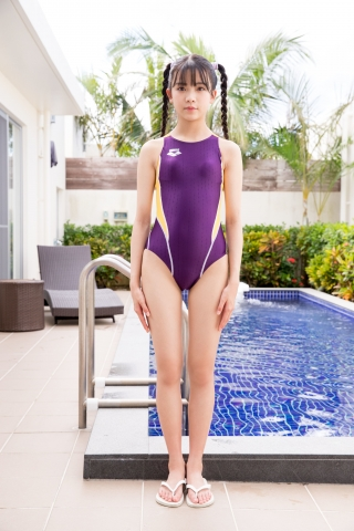 Mao Imaizumi Swimming Race Swimsuit Image Purple arena arena Vol1001
