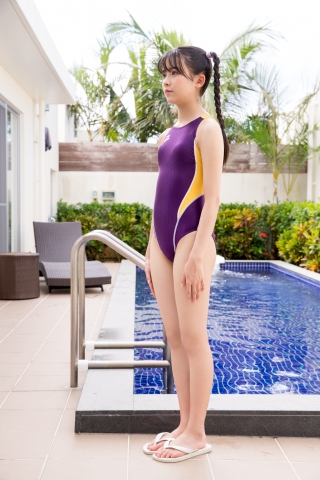 Mao Imaizumi Swimming Race Swimsuit Image Purple arena arena Vol1002