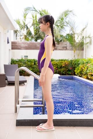 Mao Imaizumi Swimming Race Swimsuit Image Purple arena arena Vol1003