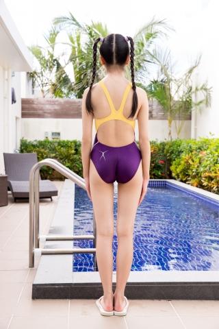 Mao Imaizumi Swimming Race Swimsuit Image Purple arena arena Vol1005