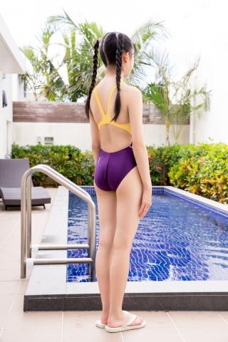 Mao Imaizumi Swimming Race Swimsuit Image Purple arena arena Vol1006
