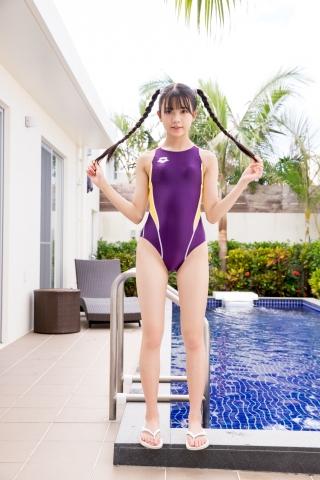 Mao Imaizumi Swimming Race Swimsuit Image Purple arena arena Vol1009