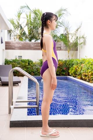 Mao Imaizumi Swimming Race Swimsuit Image Purple arena arena Vol1007