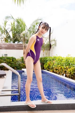 Mao Imaizumi Swimming Race Swimsuit Image Purple arena arena Vol1014
