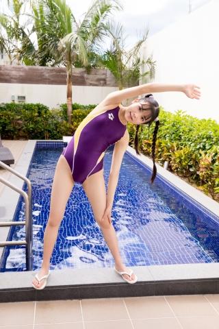 Mao Imaizumi Swimming Race Swimsuit Image Purple arena arena Vol1018