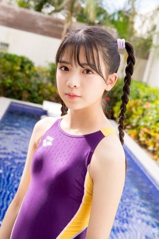 Mao Imaizumi Swimming Race Swimsuit Image Purple arena arena Vol1023