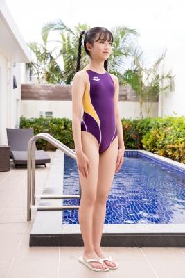 Mao Imaizumi Swimming Race Swimsuit Image Purple arena arena Vol1008