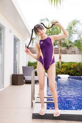 Mao Imaizumi Swimming Race Swimsuit Image Purple arena arena Vol1011