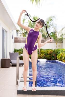 Mao Imaizumi Swimming Race Swimsuit Image Purple arena arena Vol1010
