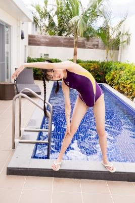 Mao Imaizumi Swimming Race Swimsuit Image Purple arena arena Vol1019